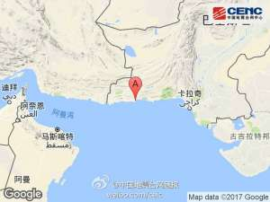 巴基斯坦发生地震 震级6.3震中位于伯斯尼西南23公里处