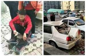 中学生12楼跳下 落在一辆汽车上救了孩子一命