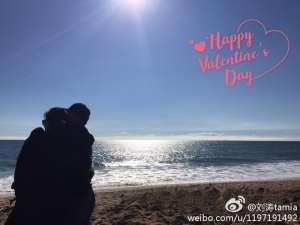 刘涛海边过情人节 网友:调个光大伙看得更清楚狗粮吃得更开心