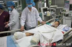 学生遭火车碾双脚 被第七节车厢下车轮所伤受损严重无法接上